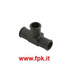 Raccordo a 3 Vie in Alluminio Nero per tubo acqua radiatore