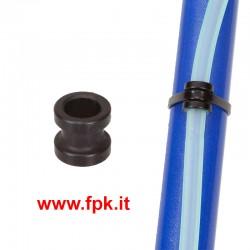 Anello foro 9mm Nero per Fissaggio Tubo Benzina