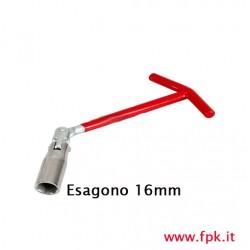 Chiave per Candele, Esagono 16mm
