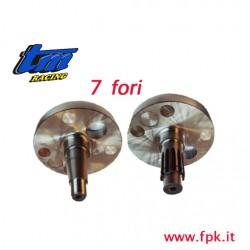 001 Fig COPPIA SEMIALBERI  20mm 7 Fori