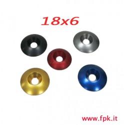 Rondella in ergal vari colori misura 18x6