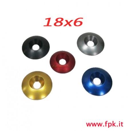 rondelle in ergal vari colori misura 18x6