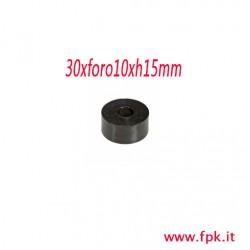 Rondella in Gomma D.30x Foro 10x .15mm, Nera