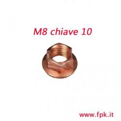 Dado M8 Flangiato  Chiave da 10