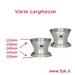 Coppia cerchi alluminio senza viti antistallonamento