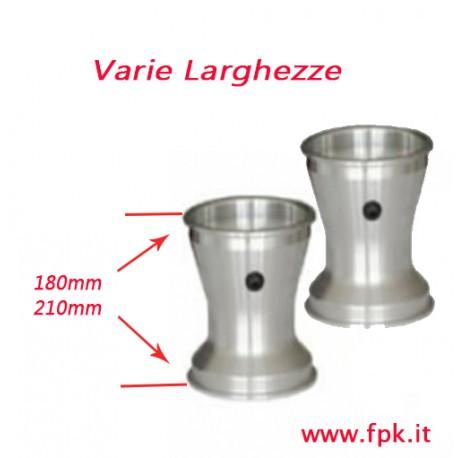 Coppia cerchi alluminio  con viti antistallonamento