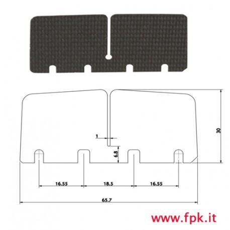 Lamella carbonio pacco 100cc 1° serie versione piccola