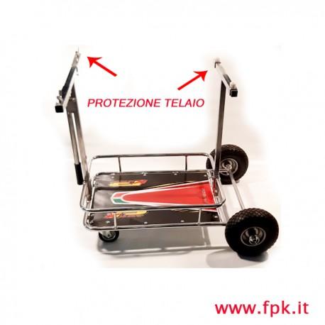 Carrello porta Kart Cromato con adesivo