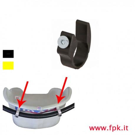 Supporto per tubo radiatore a sedile kart