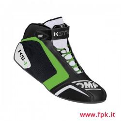 Scarpa OMP KS-1 nero/bianco/verde-fluo