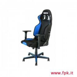 Sedia Sparco-Grip  per ufficio  colore nero/azzurro