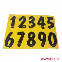 Numeri adesivi fondo giallo